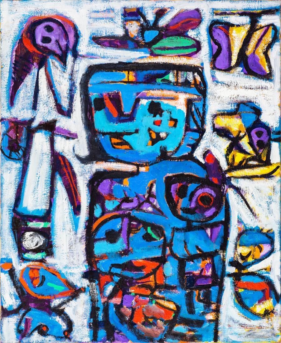 Judi Louise SINGLETON (b.1963) - BLUE MADONNA