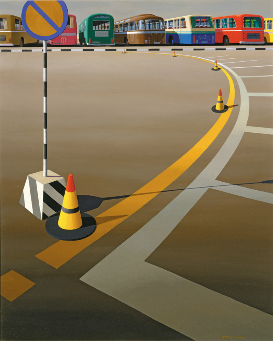 Jeffrey SMART (b.1921; d.2013) - BUS TERMINUS