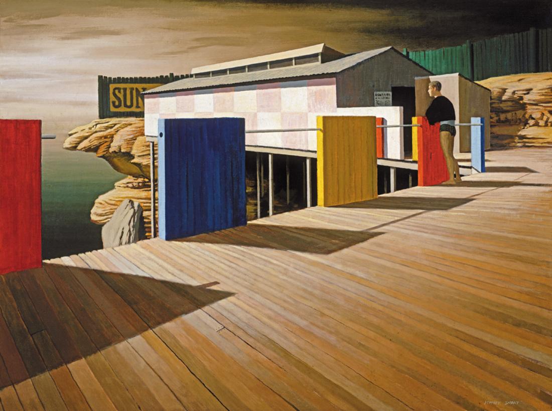 Jeffrey SMART (b.1921; d.2013) - COOGEE BATHS, WINTER I