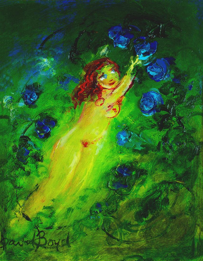 David BOYD (b.1924; d.2011) - EUROPA PICKING BLUE ROSE PETALS