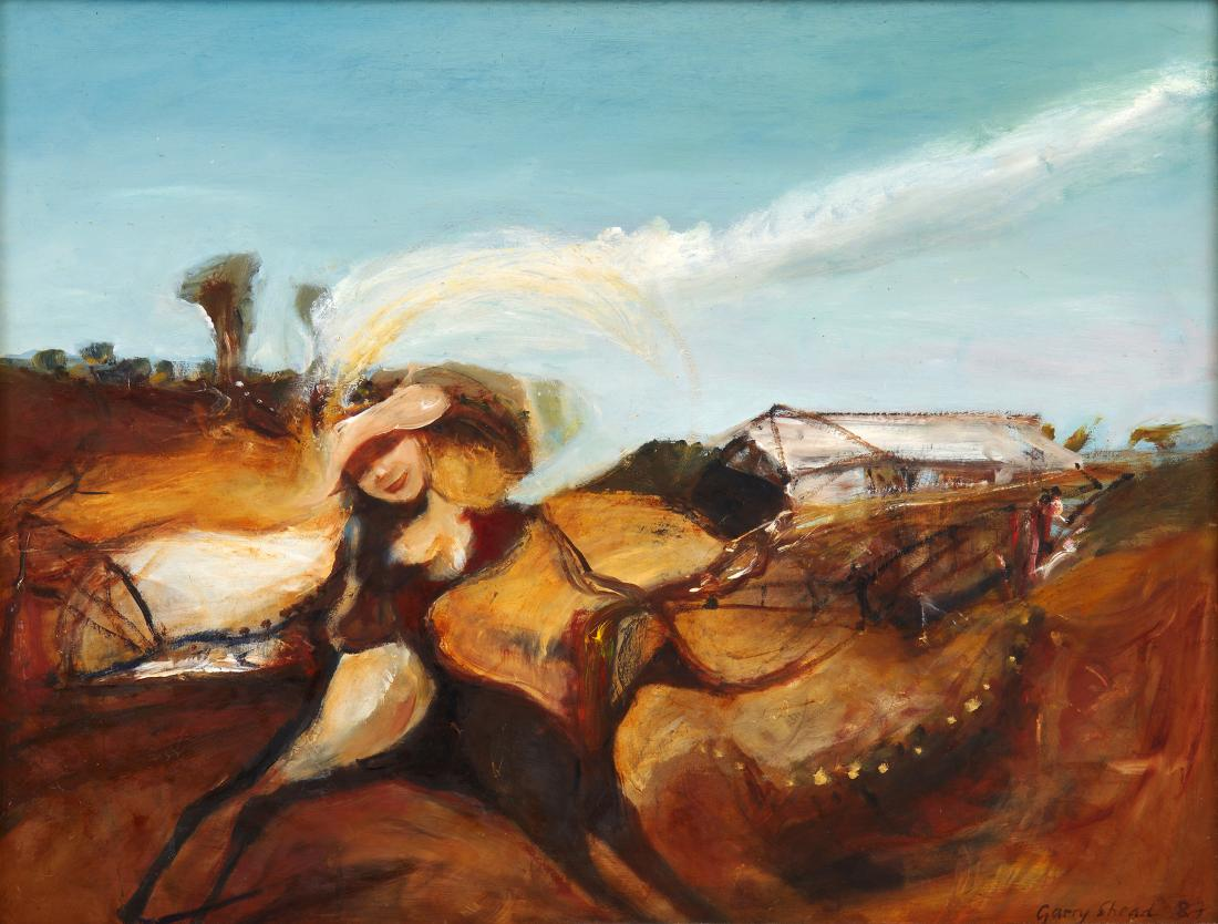 Garry SHEAD (b.1942) - LADY IN THE OUTBACK