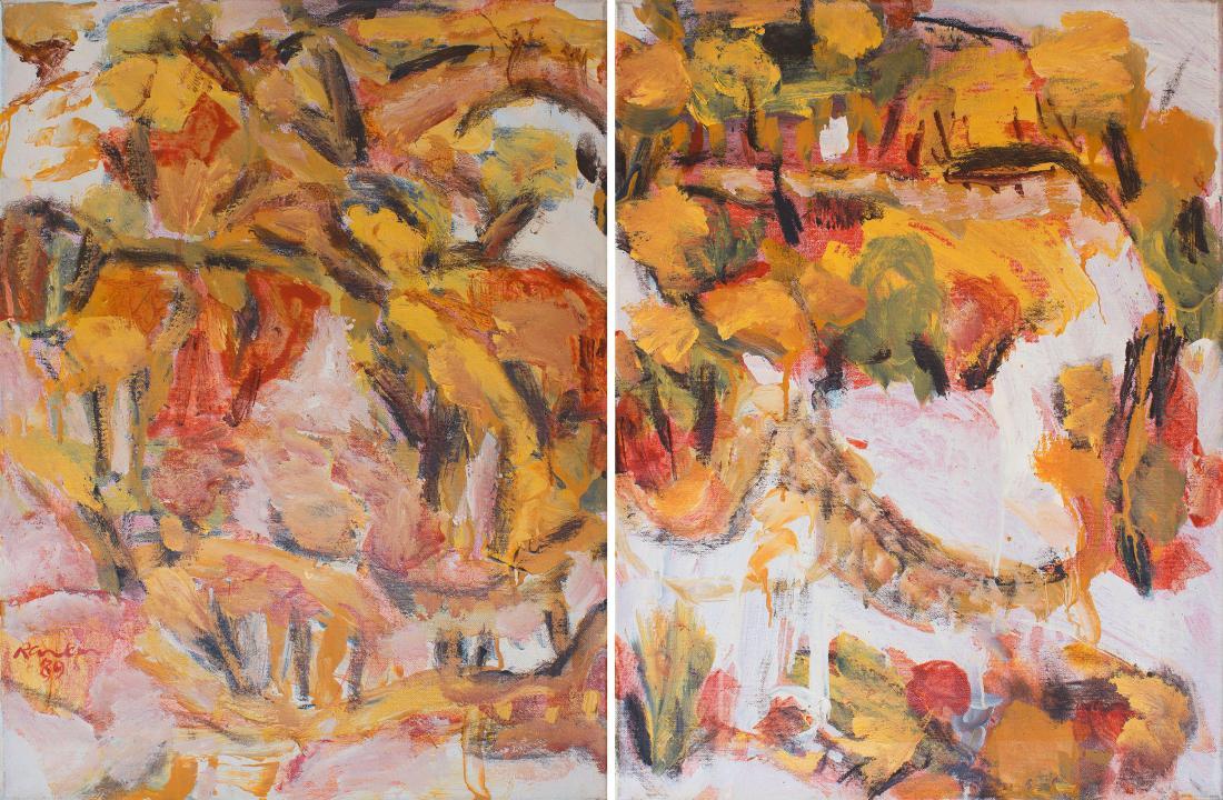 David G. RANKIN (b.1946) - LANDSCAPE IN RED (Diptych)