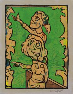 Andrew SIBLEY (b.1933; d.2015) - LETS GO GREEN