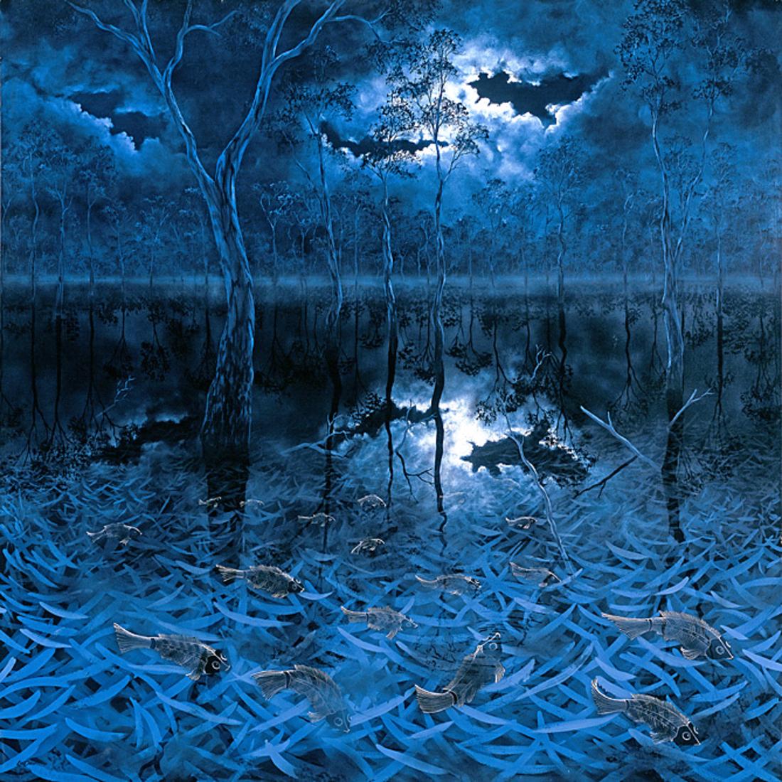 William McLintock (Lin) ONUS (b.1948; d.1996) - MORUMBEEJA PITOA (MOONLIGHT & FLOODS)