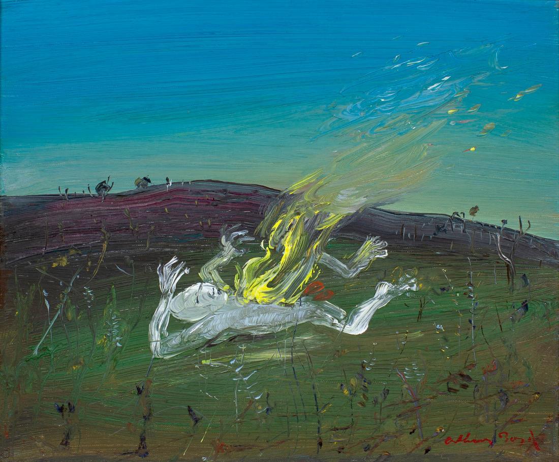 Arthur Merric Bloomfield BOYD (b.1920; d.1999) - NEBUCHADNEZZAR ON FIRE - FALLEN IN A FIELD