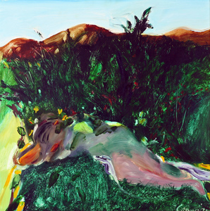 Kevin Leslie CONNOR (b.1932) - RECLINING FIGURE IN THE WILDERNESS