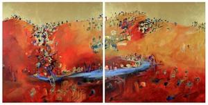 Anita WEST (b.1965) - REDROCK GULLY 1 & 2