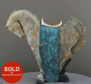 Stephen GLASSBOROW (b.1951) - ROCKING HORSE (turquoise)