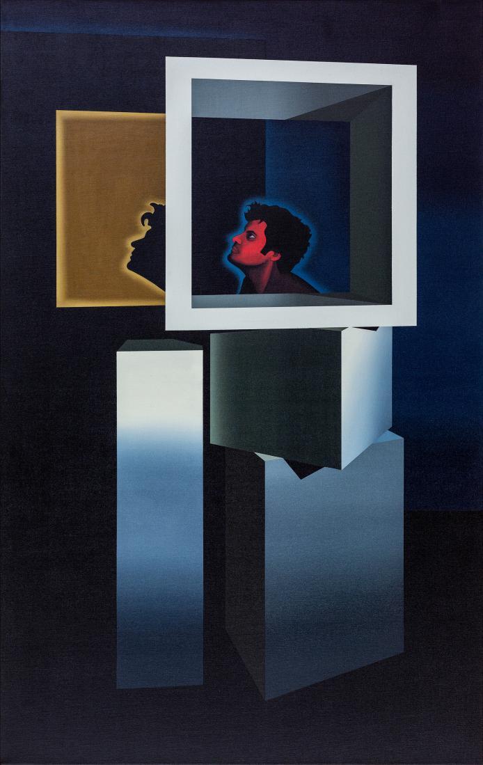 David James RELLIM (b.1986) - SELF PORTRAIT - THINKING OUTSIDE THE BOX