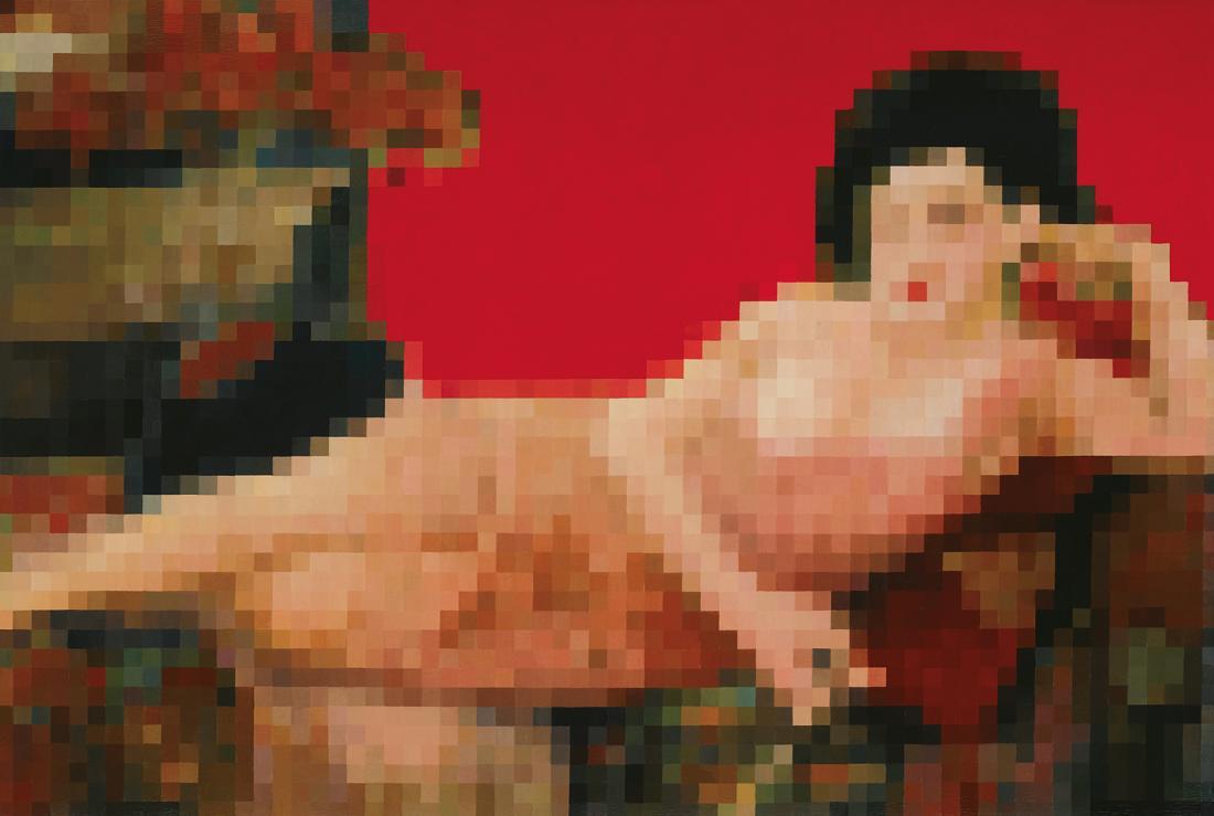 Zhong CHEN (b.1969) - SHANGHAI NIGHT (Red)