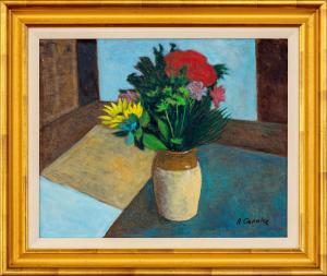 Ray Austin CROOKE (b.1922; d.2015) - STILL LIFE (Vase of Flowers)