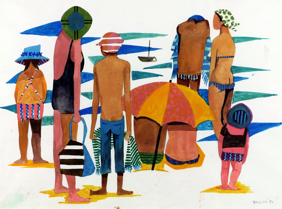 Dorothy Mary BRAUND (b.1926; d.2013) - SUMMER ON THE BEACH