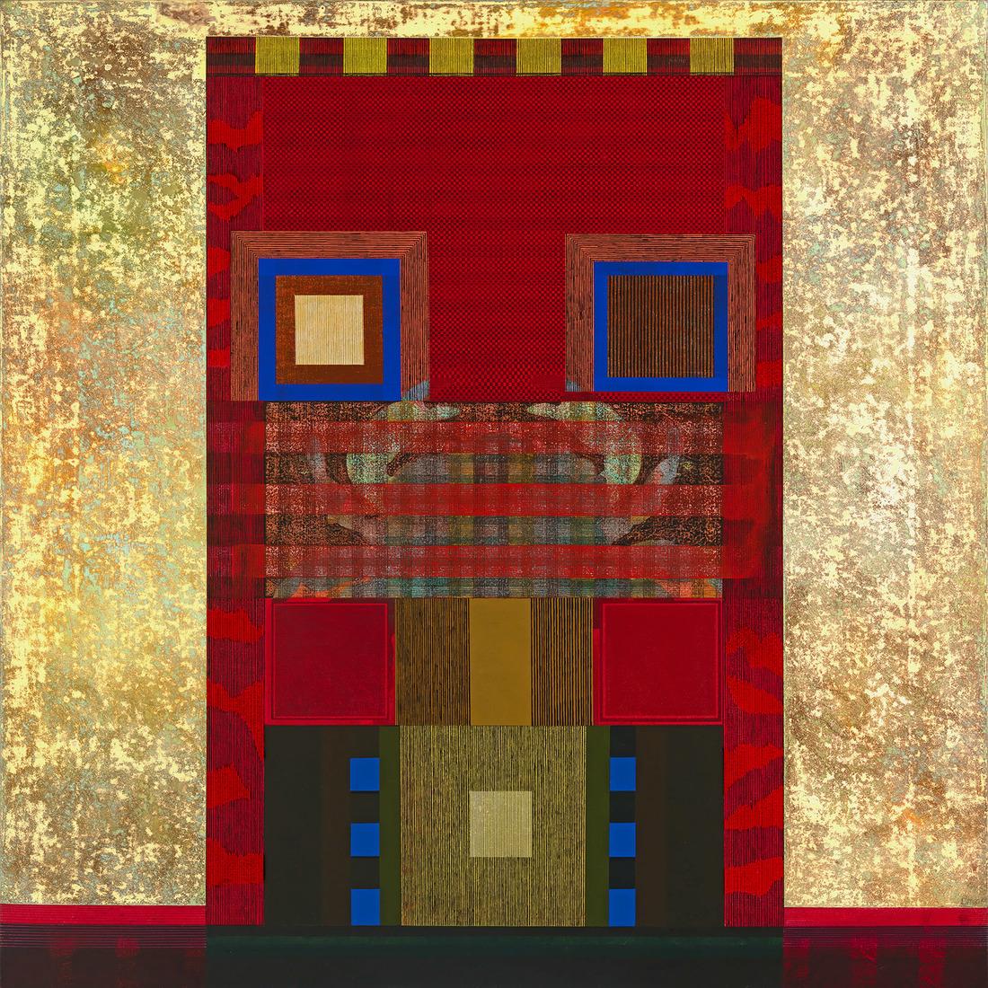 David Keith MILNE (b.1946) - THE BRIGHT RED HOUSE