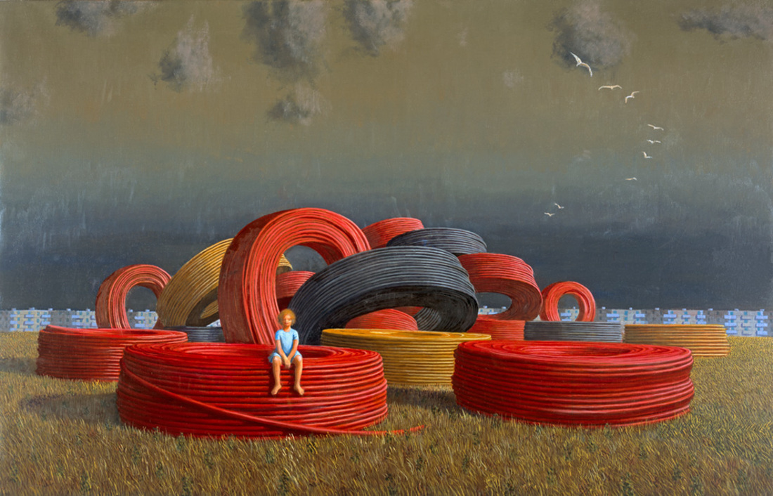Jeffrey SMART (b.1921; d.2013) - THE CABLE COILS