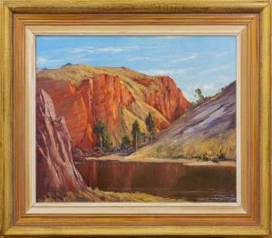 Leonard Hugh LONG O.A.M. (b.1911; d.2013) - THE RED GORGE ORMISTON RIVER N.T.