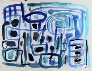 John Anthony (Tony) TUCKSON (b.1921; d.1973) - UNTITLED (Abstract Head - TD 422)